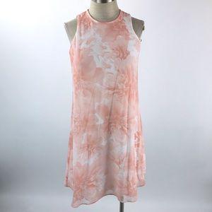 Calvin Klein Womens Sleeveless Shift Dress Floral